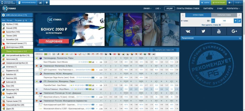 Обзор официального сайта 1хСтавка